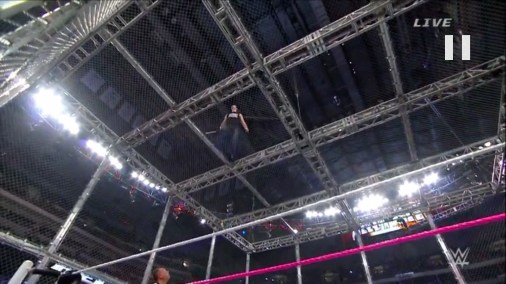dean ambrose on top of cell