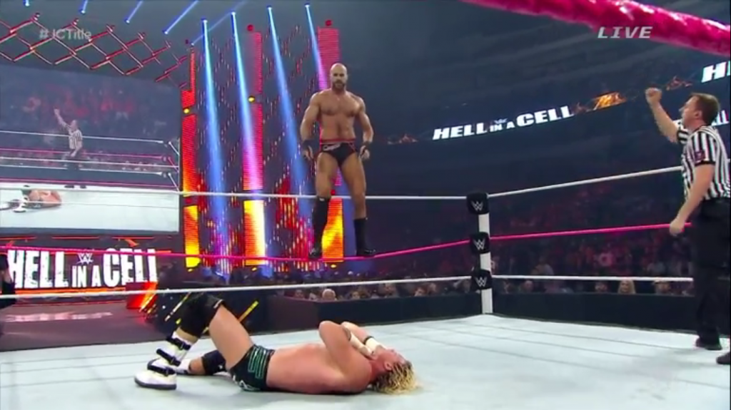 cesaro standing on middle rope